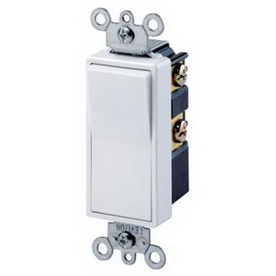 Leviton 5604-2W Decora® AC Quiet 4-Way Switch; 2-Pole, 120/277 Volt AC, 15 Amp, White