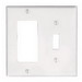 Leviton 80405-W Decora® 2-Gang Standard-Size Combination Wallplate; Device Mount, Thermoset Plastic, White