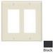 Leviton 80409-E Decora® 2-Gang Standard-Size GFCI Decorator Wallplate; Device Mount, Thermoset Plastic, Black