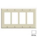 Leviton 80412-W Decora® 4-Gang Standard-Size GFCI Decorator Wallplate; Device Mount, Thermoset Plastic, White