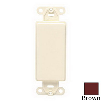 Leviton 80414 QuickPort® Decora® 1-Gang Multimedia Blank Insert; Box Mount, Nylon, Brown