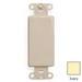 Leviton 80414-I QuickPort® Decora® 1-Gang Multimedia Blank Insert; Box Mount, Nylon, Ivory