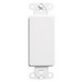 Leviton 80414-W QuickPort® Decora® 1-Gang Multimedia Blank Insert; Box Mount, Nylon, White