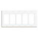 Leviton 80423-W Decora® 5-Gang Standard-Size GFCI Decorator Wallplate; Device Mount, Thermoset Plastic, White