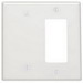Leviton 80608-W Decora® 2-Gang Midway-Size Combination Wallplate; Strap Mount, Thermoset Plastic, White
