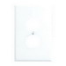 Leviton 88103 1-Gang Oversized Duplex Receptacle Wallplate; Device Mount, Thermoset Plastic, White