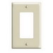 Leviton 80601-I Decora® 1-Gang Midway-Size GFCI Decorator Wallplate; Device Mount, Thermoset Plastic, Ivory