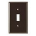 Leviton 80701 1-Gang Standard-Size Toggle Switch Wallplate; Device Mount, Thermoplastic Nylon, Brown