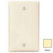 Leviton 80714-I 1-Gang Standard-Size No Device Blank Wallplate; Box Mount, Thermoplastic Nylon, Ivory