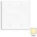 Leviton 80725-I 2-Gang Standard-Size No Device Blank Wallplate; Box Mount, Thermoplastic Nylon, Ivory