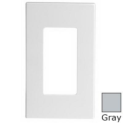 Leviton 80301-SGY Decora Plus™ Decora® 1-Gang Standard-Size Screwless Decorator Wallplate; Snap-On Mount, Polycarbonate, Gray