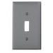 Leviton 80701-GY 1-Gang Standard-Size Toggle Switch Wallplate; Device Mount, Thermoplastic Nylon, Gray