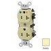 Leviton 5362-IGI Double Pole Isolated Ground Straight Blade Duplex Receptacle; Wall Mount, 125 Volt, 20 Amp, Ivory