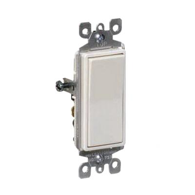 Leviton 5601-2GY Decora® AC Quiet Switch; 1-Pole, 120/277 Volt AC, 15 Amp, Gray