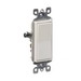 Leviton 5601-2GY Decora® AC Quiet Switch; 1-Pole, 120/277 Volt AC, 15 Amp, Gray