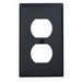 Leviton 80703-E 1-Gang Standard-Size Duplex Receptacle Wallplate; Device Mount, Thermoplastic Nylon, Black