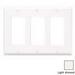 Leviton 80411-T Decora® 3-Gang Standard-Size GFCI Decorator Wallplate; Device Mount, Thermoset Plastic, Light Almond