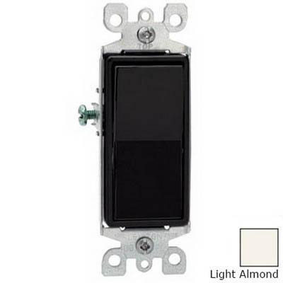 Leviton 5603-2T Decora&reg AC Quiet 3-Way Switch 1-Pole  120/277 Volt AC  15 Amp  Light Almond