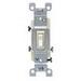 Leviton 1453-2T AC Quiet 3-Way Framed Toggle Switch; 120 Volt AC, 15 Amp, Light Almond