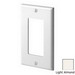 Leviton 80401-NT Decora® 1-Gang Standard-Size GFCI Decorator Wallplate; Device Mount, Thermoplastic Nylon, Light Almond