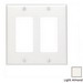 Leviton 80409-NT Decora® 2-Gang Standard-Size GFCI Decorator Wallplate; Device Mount, Thermoplastic Nylon, Light Almond