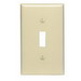 Leviton 80701-T 1-Gang Standard-Size Toggle Switch Wallplate; Device Mount, Thermoplastic Nylon, Light Almond