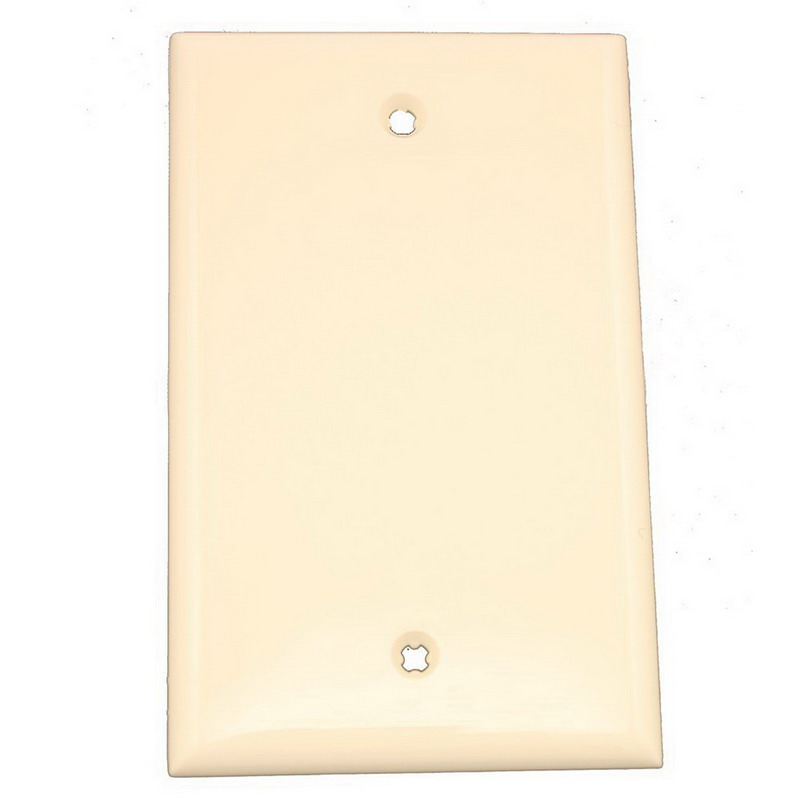 Leviton 80714-T 1-Gang Standard-Size No Device Blank Wallplate; Box Mount, Thermoplastic Nylon, Light Almond