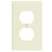 Leviton 78003 1-Gang Standard-Size Duplex Receptacle Wallplate; Device Mount, Thermoset Plastic, Light Almond