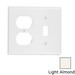 Leviton 78005 2-Gang Standard-Size Combination Wallplate; Device Mount, Thermoset Plastic, Light Almond