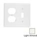 Leviton 78005 2-Gang Standard-Size Combination Wallplate; Device Mount, Thermoset Plastic, Light Almond