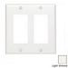 Leviton 80409-T Decora® 2-Gang Standard-Size GFCI Decorator Wallplate; Device Mount, Thermoset Plastic, Light Almond