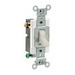 Leviton CS320-2T Heavy Duty Specification Grade AC Quiet 3-Way Toggle Switch; 1-Pole, 120/277 Volt AC, 20 Amp, Light Almond
