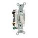 Leviton CS420-2T Specfication Grade AC Quiet 4-Way Toggle Switch; 2-Pole, 120/277 Volt AC, 20 Amp, Light Almond