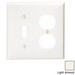 Leviton 80705-T 2-Gang Standard-Size Combination Wallplate; Device Mount, Thermoplastic Nylon, Light Almond
