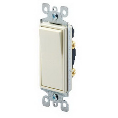Leviton 5611-2T Decora&reg Illuminated Off AC Quiet Switch 1-Pole  120/277 Volt AC  15 Amp  Light Almond