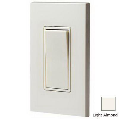 Leviton 5613-2T Decora&reg Illuminated Off AC Quiet 3-Way Rocker Switch 1-Pole  120/277 Volt AC  15 Amp  Light Almond