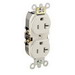 Leviton 5362-ST LEVSPEC™ Double Pole Straight Blade Duplex Receptacle; Wall Mount, 125 Volt, 20 Amp, Light Almond