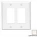 Leviton 80609-T Decora® 2-Gang Midway-Size GFCI Decorator Wallplate; Device Mount, Thermoset Plastic, Light Almond