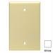 Leviton PJ13-T 1-Gang Midway-Size No Device Blank Wallplate; Box Mount, Thermoplastic Nylon, Light Almond