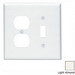 Leviton 80505-T 2-Gang Midway-Size Combination Wallplate; Device Mount, Thermoset Plastic, Light Almond