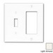 Leviton 80707-T Decora® 2-Gang Standard-Size Combination Wallplate; Device Mount, Thermoplastic Nylon, Light Almond