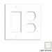 Leviton 80746-T Decora® 2-Gang Standard-Size Combination Wallplate; Device Mount, Thermoplastic Nylon, Light Almond