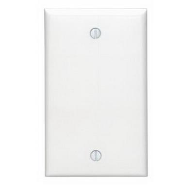 Leviton 80714-W 1-Gang Standard-Size No Device Blank Wallplate; Box Mount, Thermoplastic Nylon, White