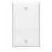 Leviton 80714-W 1-Gang Standard-Size No Device Blank Wallplate; Box Mount, Thermoplastic Nylon, White