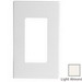 Leviton 80301-ST Decora Plus™ Decora® 1-Gang Standard-Size Screwless Decorator Wallplate; Snap-On Mount, Polycarbonate, Light Almond