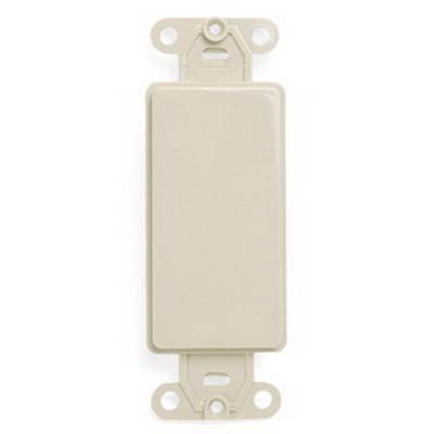Leviton 80414-T QuickPort® Decora® 1-Gang Multimedia Blank Insert; Box Mount, Nylon, Light Almond