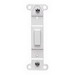 Leviton 80700-W Decora® 1-Gang No Hole Blank Toggle Wallplate Adapter; Strap Mount, Plastic, White