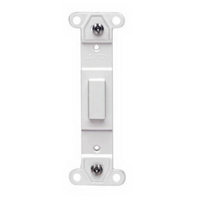 Leviton 80700-GY Decora® 1-Gang No Hole Blank Toggle Wallplate Adapter; Strap Mount, Plastic, Gray