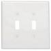 Leviton 88109 2-Gang Oversized Toggle Switch Wallplate; Device Mount, Thermoset Plastic, White