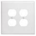 Leviton 88116 2-Gang Oversized Duplex Receptacle Wallplate; Device Mount, Thermoset Plastic, White